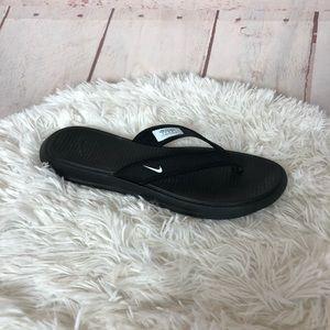 Nike Black Flip Flops Size 8